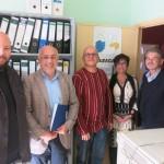 Visita del Presidente del Cabildo de Gran Canaria