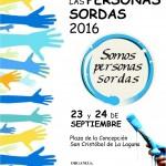 DÍA INTERNACIONAL DE LAS PERSONAS SORDAS, 23 Y 24 DE SEPTIEMBRE.
