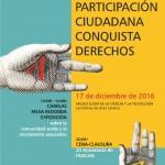 """Jornadas """"La participación ciudadana conquista derechos"""", 17 de diciembre en Gran Canaria."""