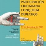 """Ponencias en las Jornadas """"La Participación Ciudadana Conquista Derechos""""."""