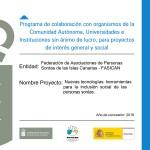 """Proyecto """"Nuevas Tecnologías: Herramientas para la inclusión social de las Personas Sordas"""""""