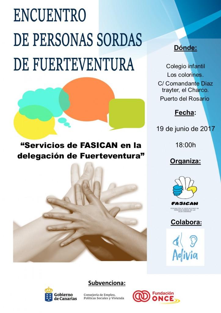 cartel encuentro Fuerteventura