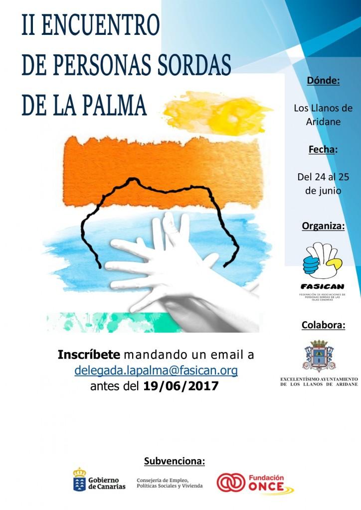cartel encuentro La Palma
