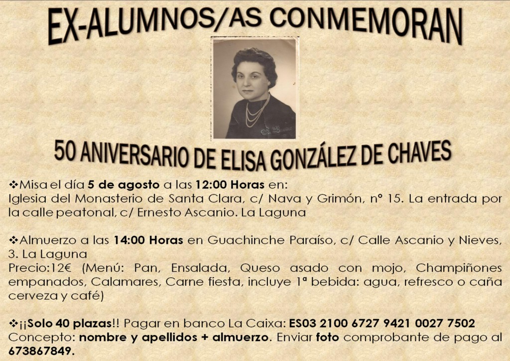 CONMEMORACIÓN ELISA