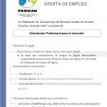 OFERTA DE EMPLEO: Orientador laboral para Tenerife