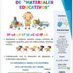 Campaña de recogida de material educativo
