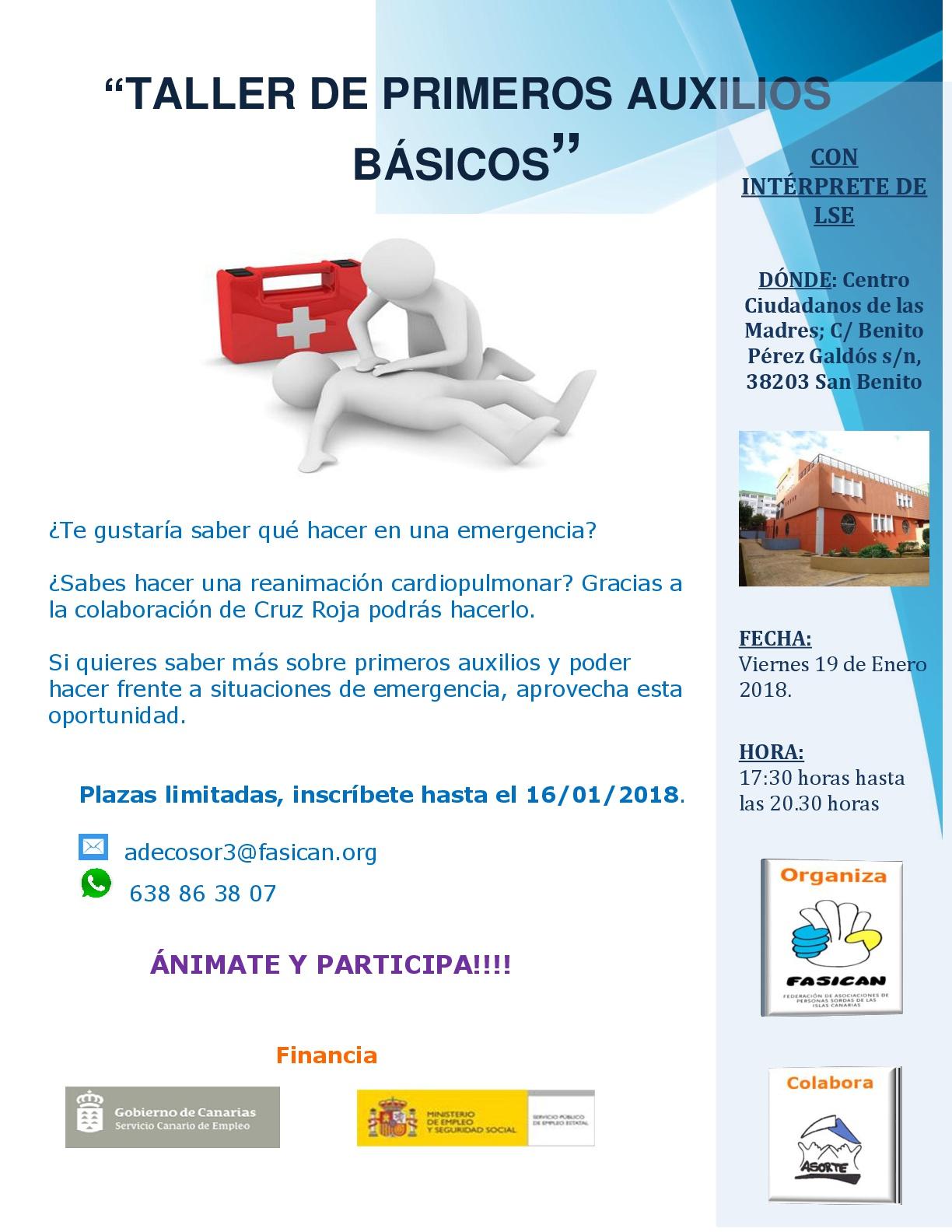 Taller de primeros auxilios básicos - FASICAN