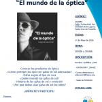 """Charla de """"El Mundo de la óptica"""""""