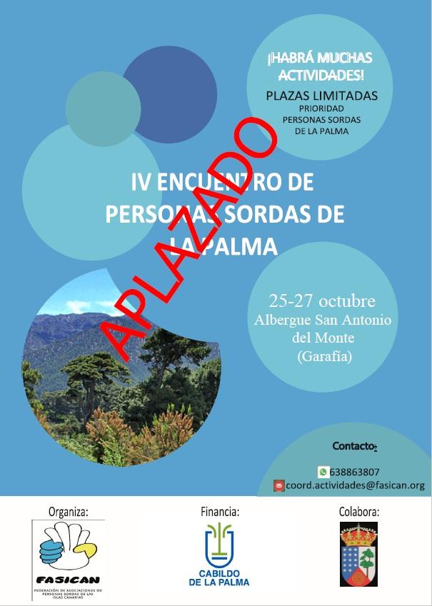 ¡APLAZADO! IV Encuentro de personas sordas de La Palma