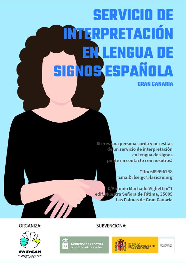 NUEVO SERVICIO: «Servicio de Interpretación en Lengua de Signos Española en Gran Canaria»
