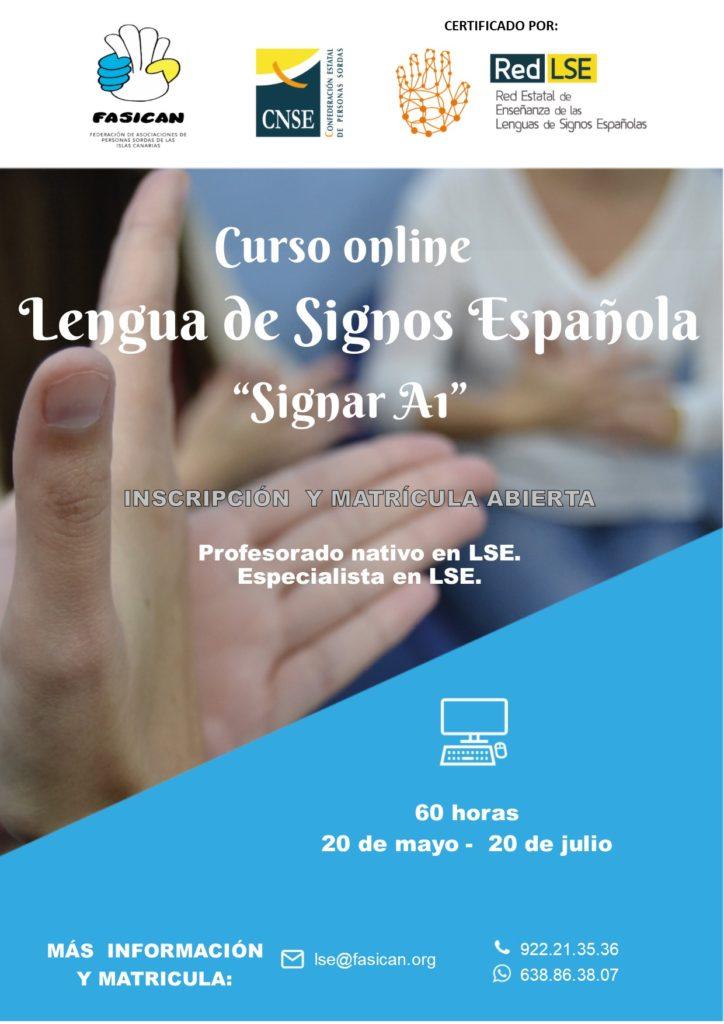 """[PLAZAS AGOTADAS] Curso online: Lengua de Signos Española """"Signar A1""""."""
