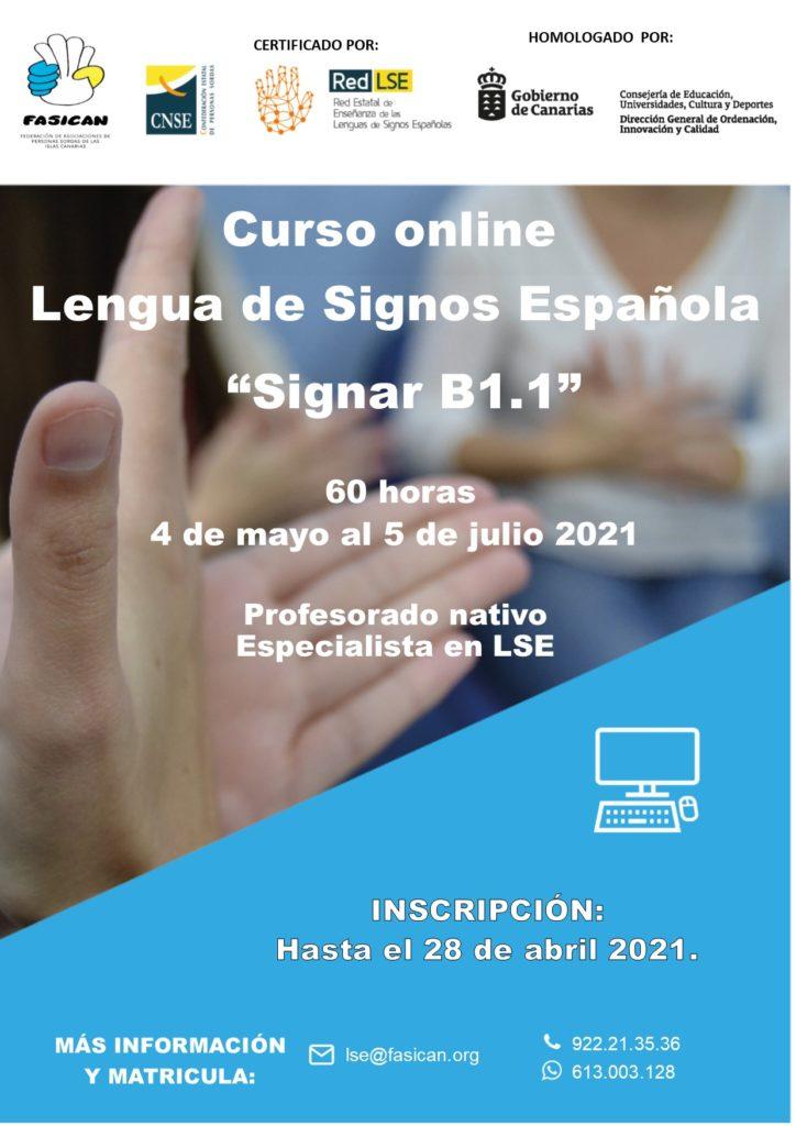 "Inscripción curso online LSE ""Signar B1.1"""